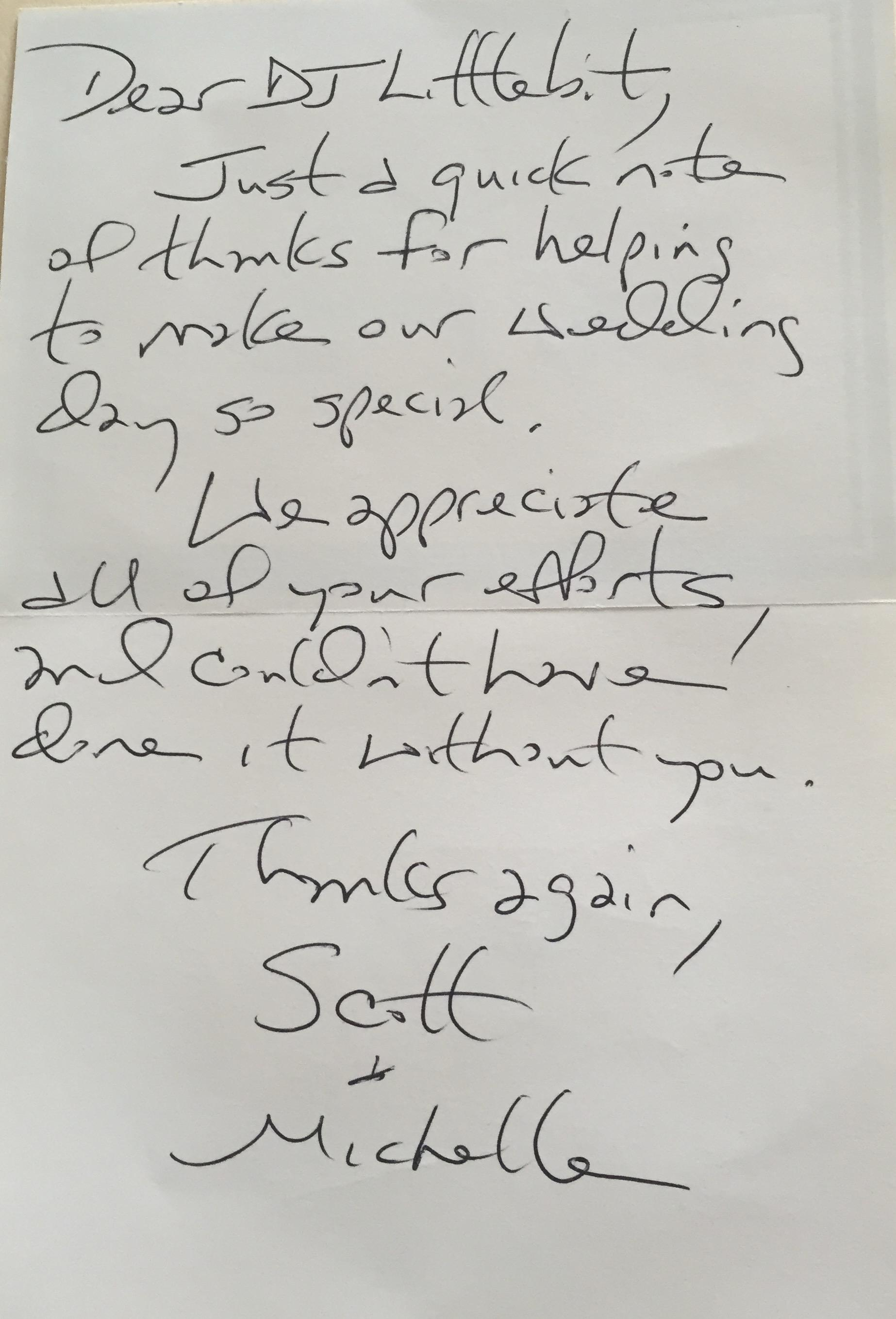 2015-04-25 - Scott and Michelle's Thank You Card