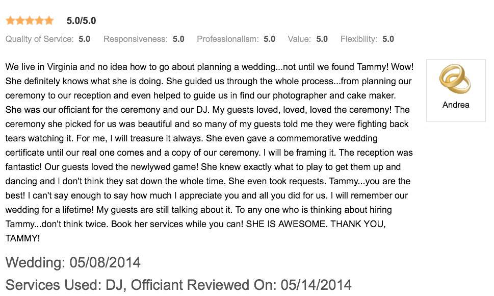 Review - 05-08-14 Wedding